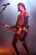 Robbie Merrill, Bass and Backing Vocals for Godsmack 2019 Fall Tour October 13th, 2019 in Ontario, California at the Toyota Arena