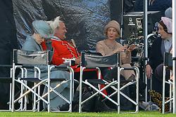 Dame Maggie Smith (Dowager Countess of Grantham), Hugh Bonneville (Lord Grantham) and Joanne Froggatt (Anna Smith) are all seen on set of Downton Abbey The Movie which is filming in Wiltshire today.<br /><br />25 September 2018.<br /><br />Please byline: Vantagenews.com