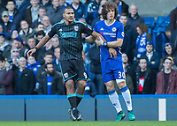 Football - 2016 / 2017 Premier League - Chelsea vs. West Bromwich Albion<br /> <br /> David Luiz of Chelsea keeps a grip on Salomon Rondon of West Bromwich Albion at Stamford Bridge.<br /> <br /> COLORSPORT/DANIEL BEARHAM