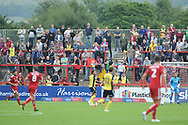 Travelling fans during the EFL Sky Bet League 1 match between Accrington Stanley and Scunthorpe United at the Fraser Eagle Stadium, Accrington, England on 1 September 2018.