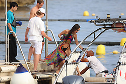 Bella Hadid and boy friend, France in 12 July, 2021. Photo by ABACAPRESS.COM