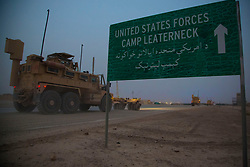 May 4, 2014 - Sangin, Helmand, Afghanistan - Several convoying vehicles enter into Camp Leatherneck after convoying about 100km from the Sangin, Afghanistan. Hand-off in northern Helmand comes as NATO combat mission wanes. The last U.S. Marines withdrew from northern Helmand early Monday morning, turning their two remaining bases in the hard-fought Sangin district over to Afghan national security forces. (Credit Image: © U-T San Diego/ZUMAPRESS.com)