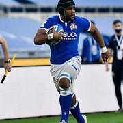 Roma 13/03/2021, Stadio Olimpico<br /> Guinness Six Nations 2021<br /> Italia vs Galles<br /> <br /> Maxime Mbanda'