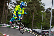 #593 (CAMPO VINTIMILLA Alfredo Jose) ECU during round 3 of the 2017 UCI BMX  Supercross World Cup in Zolder, Belgium,