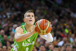 Edo Muric of Slovenia during friendly match between National Teams of Slovenia and Lithuania before World Championship Spain 2014 on August 18, 2014 in Kaunas, Lithuania. Photo by Robertas Dackus / Sportida.com