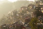 High angle view of Shimla town, Himachal Pradesh, India