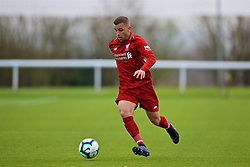 DERBY, ENGLAND - Friday, March 8, 2019: Liverpool's Juanma Garcia during the FA Premier League 2 Division 1 match between Derby County FC Under-23's and Liverpool FC Under-23's at the Derby County FC Training Centre. (Pic by David Rawcliffe/Propaganda)