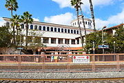 The Santa Ana Train Station Seen From the Northbound Platform