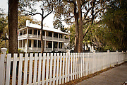 Historic home in the tiny artists village of Bluffton, South Carolina, USA.