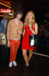 ALEX MAHOOD from pop group Littlêans and FLORA HODGE at a party to celebrate Zandra Rhodes's return to London Fashion week and the launch of a limited edition of M.A.C makeup at Silver, 17 Hanover Square, London W1 on 20th September 2006.<br /><br />NON EXCLUSIVE - WORLD RIGHTS