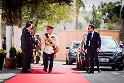 Jordan's King Abdullah II and his son Crown Prince Hussein (right) arrive to deliver a speech for the inauguration or the third ordinary session of the 18th Parliament, in Amman, Jordan, on October 14, 2018. Photo by Balkis Press/ABACAPRESS.COM