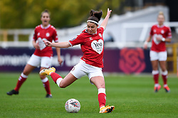 Carla Humphrey of Bristol City Women has a shot on goal - Mandatory by-line: Ryan Hiscott/JMP - 18/10/2020 - FOOTBALL - Twerton Park - Bath, England - Bristol City Women v Birmingham City Women - Barclays FA Women's Super League