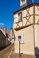 France, Cher (18), Bourges, centre historique, les maisons à pans de bois // France, Cher (18), Bourges, center, half timbered houses