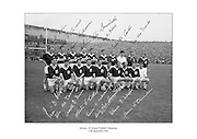 Signed team shot of the Galway Football Team who beat Meath in the 1966 All Ireland Football Final.<br /> <br /> 25th September 1966<br /> <br /> 25.09.1966
