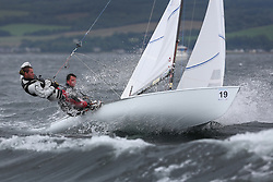 The Flying Dutchman World Championships,  Largs 2014. First days racing in breezy conditions on the Clyde. <br /> <br /> Germany 113 - Killian Konig and Johannes Brack<br /> <br /> The former Olympic class has attracted 40 worldwide competitors to Scotland to compete. <br /> <br /> PIctures Marc Turner / PFM Pictures