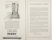 All Ireland Senior Hurling Championship Final,.Brochures,.05.09.1948, 09.05.1948, 5th September 1948, .Waterford 6-7, Dublin 4-2, .Minor Kilkenny v Waterford, .Senior Dublin v Waterford, .Croke Park, ..Advertisements, Paddy Whiskey Cork Distilleries Co. Ltd, ..Articles, CLCG Agus Gluaiseact Na Gaedilge,