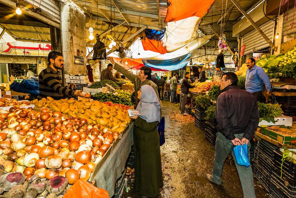 Street market, Amman, Jordan.
