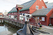 Whaling harpoon outside the Polar Museum, Tromso, Norway