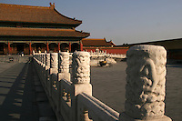 The Forbidden City was the Chinese imperial palace from the Ming Dynasty to the end of the Qing Dynasty.  For almost five centuries, it served as the home of the Emperor and his household, as well as the ceremonial and political centre of Chinese government.  Built from 1406 to 1420, the complex consists of 980 surviving buildings. The Forbidden City was declared a World Heritage Site in 1987 and is listed by UNESCO as the largest collection of preserved ancient wooden structures in the world.