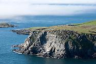 Hiking the Raad ny Foillan coastal path or 'Way of the Gull', Isle of Man. View of Spanish Head. © Rudolf Abraham