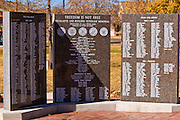 Marble monument at the Escalante-Boulder Veterans Memorial, Escalante, Utah