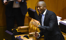 Cape Town-180822-DA leader Mmusi Maimane posing a question to President Cyril Ramaphosa about the land distribution in Parliament.photograph:Phando Jikelo/African News Agency/ANA