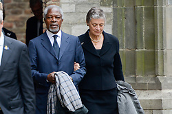 """Kofi Annan, former Secretary-General of the United Nations, has died today aged 80. He is said to have died """"peacefully"""" in the early hours of this morning. Here on archive photos. 18 Aug 2018 Pictured: Kofi Annan, Nane Annan. Photo credit: MEGA TheMegaAgency.com +1 888 505 6342"""