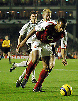 Fotball<br /> Champions League 2004/05<br /> Arsenal v Rosenborg<br /> Highbury - London<br /> 7. desember 2004<br /> Foto: Digitalsport<br /> NORWAY ONLY<br /> Thierry Henry back to doing what he does best, terrorising defences
