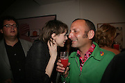Juman Malouf and Abe Rodgers, Party hosted by Sir Richard and Lady Ruth Rogers at their house in Chelsea  to celebrate the extraordinary achievement of completing this year's Pavilion  by Olafur Eliasson and Kjetil Thorsenat at the Serpentine.  13 September 2007. -DO NOT ARCHIVE-© Copyright Photograph by Dafydd Jones. 248 Clapham Rd. London SW9 0PZ. Tel 0207 820 0771. www.dafjones.com.