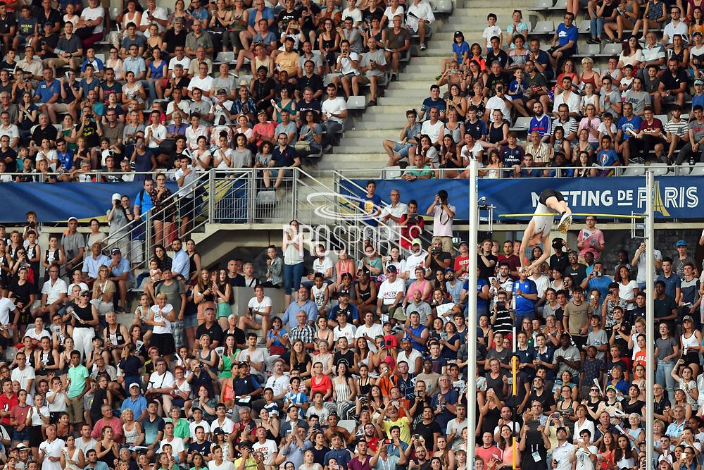 Sam Kendricks competes and wins men pole vault during the Meeting de Paris 2018, Diamond League, at Charlety Stadium, in Paris, France, on June 30, 2018 - Photo Philippe Millereau / KMSP / ProSportsImages / DPPI