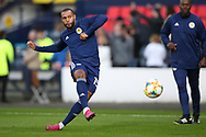 Scotland forward Matt Phillips (19) (West Bromwich Albion) warming up during the UEFA European 2020 Qualifier match between Scotland and Russia at Hampden Park, Glasgow, United Kingdom on 6 September 2019.