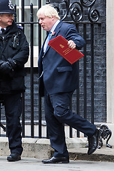 London, October 31 2017. Foreign and Commonwealth Secretary Boris Johnson leaves the weekly UK cabinet meeting at Downing Street. © Paul Davey