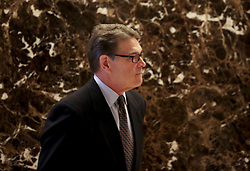 November 21, 2016 - New York, New York, United States of America - Former Governor Rick Perry (Republican of Texas) leaves after meeting with United States President-elect Donald Trump, November 21, 2016, at the Trump Tower in New York, New York..Credit: Aude Guerrucci / Pool via CNP (Credit Image: © Aude Guerrucci/CNP via ZUMA Wire)
