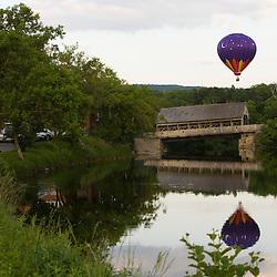 Balloons at the 2006 Quechee Balloon Festival, Quechee, Vermont.  Ottauquechee River.