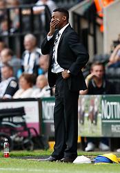 Notts County boss Chris Kiwomya looks under pressure - Photo mandatory by-line: Matt Bunn/JMP - Tel: Mobile: 07966 386802 10/08/2013 - SPORT - FOOTBALL -  Meadow Lane - Nottinghamshire -  Notts County v Peterborough United - Sky Bet League 1