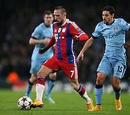 Franck Ribery of Bayern Munich - UEFA Champions League group E - Manchester City vs Bayern Munich - Etihad Stadium - Manchester - England - 25rd November 2014  - Picture Simon Bellis/Sportimage