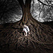 Part of a dark, conceptual series of images exploring a mental health, fragile minds theme.