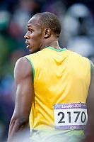 LONDON OLYMPIC GAMES 2012 - OLYMPIC STADIUM , LONDON (ENG) - 05/08/2012 - PHOTO : POOL / KMSP / DPPI<br /> ATHLETICS - MEN 100M - USAIN BOLT (JAM)