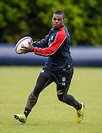 Picture by Andrew Tobin/Tobinators Ltd +44 7710 761829.24/05/2013.Christian Wade in action during the England training session at Pennyhill Park, Bagshot ahead of the match against the Barbarians on 26th May 2013.