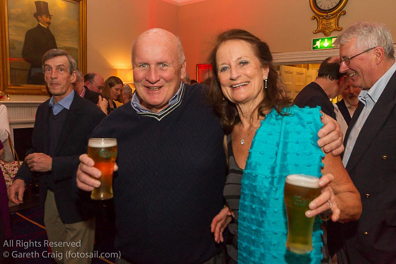 (l to r) Colum and Mary-Rose Barrington at the reunion night to celebrate 50 years of the Irish Fireball Class, held at the Royal St George YC.