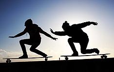 Skateboarders in Brighton