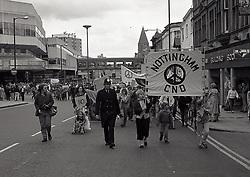 CND Trident demo, Nottingham UK June 1985