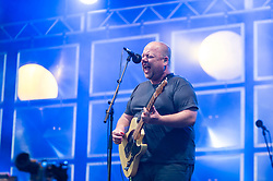 © Licensed to London News Pictures. 08/06/2014. London, UK.   The Pixies performing live at FIeld Day 2014.   In this picture - Black Francis (also known as Frank Black).  The Pixies are an American alternative rock band formed in Boston, Massachusetts, in 1986.Photo credit : Richard Isaac/LNP