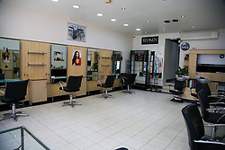 © Licensed to London News Pictures. 24/04/2020. London, UK. Inside an empty hairdresser in north London. According to government officials, hairdressers could be forced to remain closed for six more months to reduce the risk of the spread of COVID-19. Photo credit: Dinendra Haria/LNP