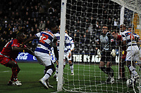 Photo: Tony Oudot/Sportsbeat Images.<br /> Queens Park Rangers v Crystal Palace. Coca Cola Championship. 04/12/2007.<br /> Clinton Morrison of Crystal Palace (left) scores the winning goal