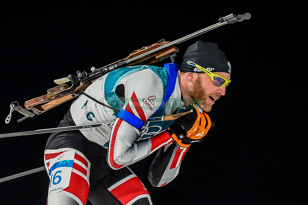 February 18, 2018 - Pyeongchang, Gangwon, South Korea - Simon Eder of  Austria  competing in  15 km mass start biathlon at Alpensia Biathlon Centre, Pyeongchang,  South Korea on February 18, 2018. (Credit Image: © Ulrik Pedersen/NurPhoto via ZUMA Press)