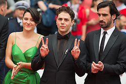 Xavier Dolan and Catherine Brunet arriving on the red carpet of 'Matthias Et Maxime (Matthias and Maxime)' screening held at the Palais Des Festivals in Cannes, France on May 22, 2019 as part of the 72th Cannes Film Festival. Photo by Nicolas Genin/ABACAPRESS.COM