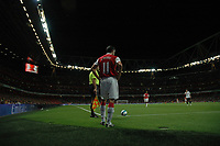 Photo: Tony Oudot.<br /> Arsenal v Sparta Prague. UEFA Champions League Qualifying. 29/08/2007.<br /> Robin Van Persie prepares to take a corner at the Emirates Stadium