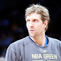 04 April 2014: Dallas Mavericks forward Dirk Nowitzki (41) warms up prior to the Dallas Mavericks 107-95 victory over the Los Angeles Lakers at the Staples Center, Los Angeles, California, USA.