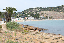 A view of Praia da Luz beach in Lagos, Algarve, Portugal, on June 7, 2020, where the three-year-old British girl Madeleine McCann was on holidays when she disappeared in 2007. Portuguese justice said to be questioning witnesses as part of the investigation into the 2007 disappearance of the British girl Madeleine McCann, whose case re-emerged on May 3, 2020 with the identification of a new German suspect. Photo by ABACAPRESS.COM
